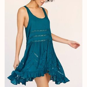 Free People Trapeze Slip in turquoise
